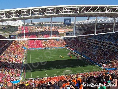 0a98f0d1a4 Visão geral da Arena Corinthians para Holanda x Chile. Foto  Fernando  Martinez.